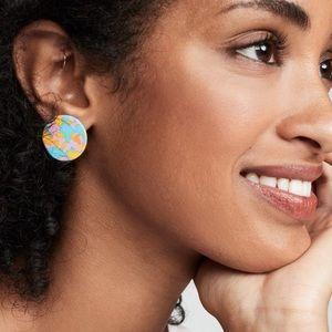 Lele Sadoughi mini disc earrings lemon meringue